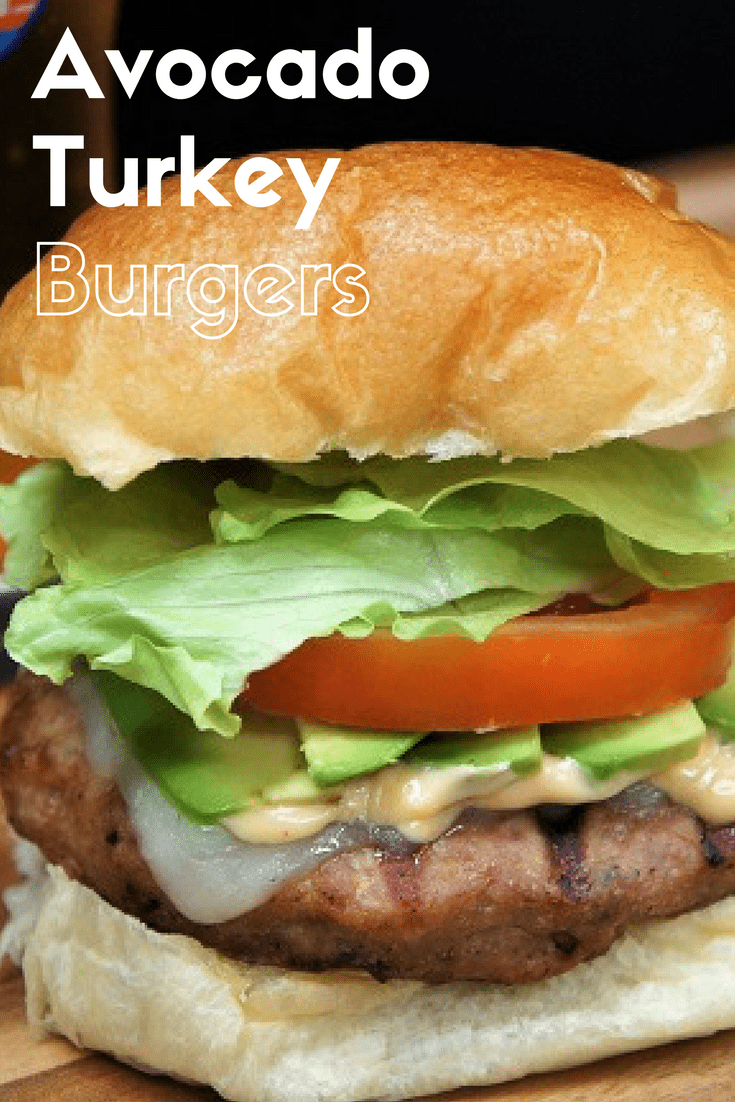 If you're into turkey burgers, or you're just trying to cut down on red meat, these avocado turkey burgers won't let you down. They're flavorful, thanks to a combination of spices and Worcestershire sauce. Then, we add even more flavor with a slightly spicy chipotle mayonnaise, avocados, Swiss cheese, lettuce and tomatoes. #avocadoturkeyburgers #turkeyburgers #burgers #summertime #summer #barbeque