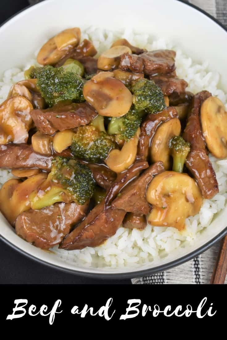 This beef & broccoli recipe will become your go-to for busy weeknights. Prep work on this dish is a snap. Serve the beef & broccoli over white rice or noodles for a delicious and filling meal. #beefandbroccoli #beef #stirfry #Chinesefood #easydinners #takeout