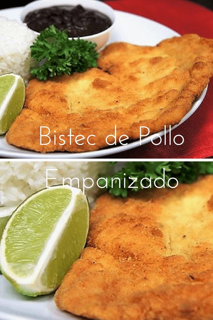 This is a Cuban classic! Breaded Chicken Steak, called Bistec de Pollo Empanizado in Spanish. #breadedchickensteak, #chicken #Cubanfood #Cubanrecipes #dinner