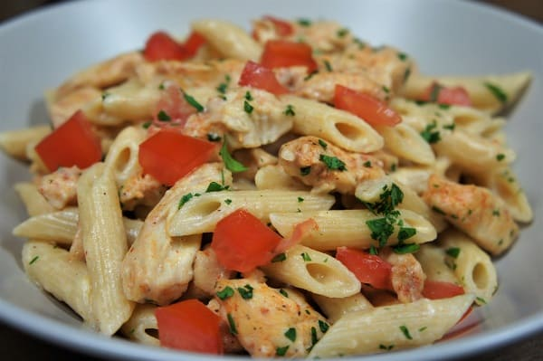Blackened Chicken & Creamy Pasta