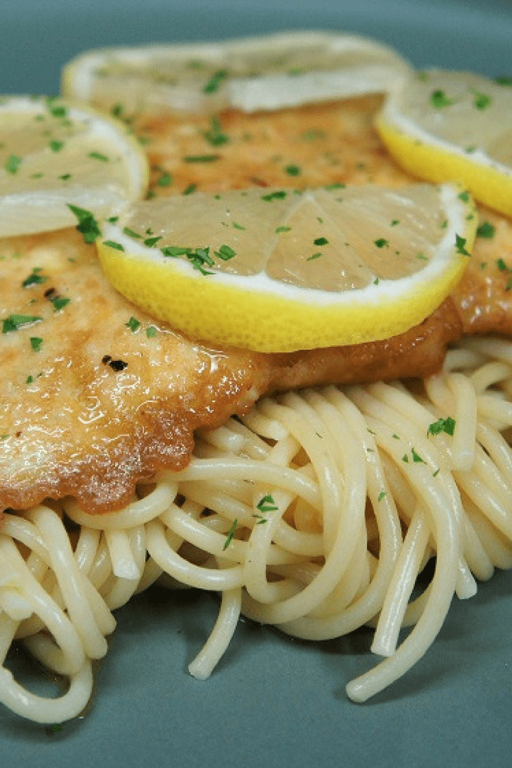 Chicken Francaise is a simple, yet elegant dish that's worthy of a special occasion. Thin chicken cutlets are dredged in seasoned flour, dipped in egg, then gently fried in olive oil and butter. The pan drippings are used to make a white wine and lemon sauce. #chickenfrancaise #chicken #datenightdinner #pasta #dinnerparty #dinner