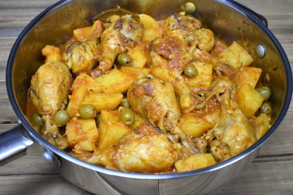 Chicken Fricassee in a Skillet