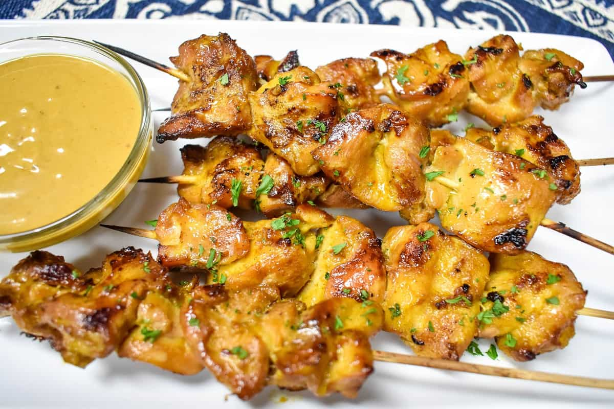Chicken Satay with Peanut Sauce