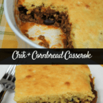 Chili and Cornbread Casserole