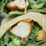 Crispy Chicken Caesar Salad Wrap