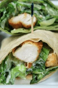 Crispy Chicken Caesar Salad Wrap