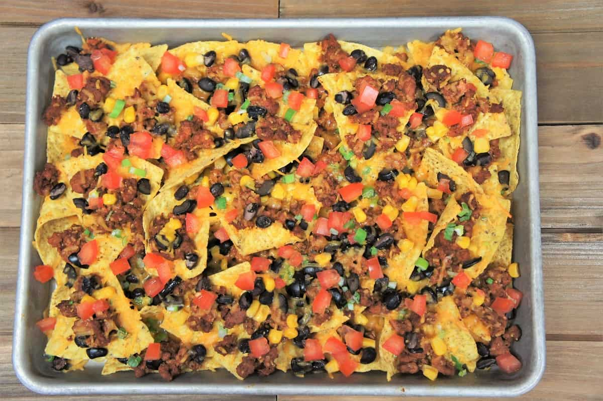 Loaded Sheet Pan Nachos