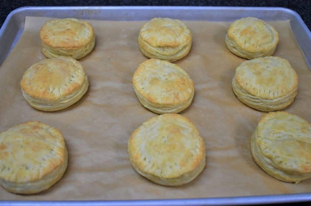 Baked Pastelitos Unglazed on a baking sheet lined with parchment paper