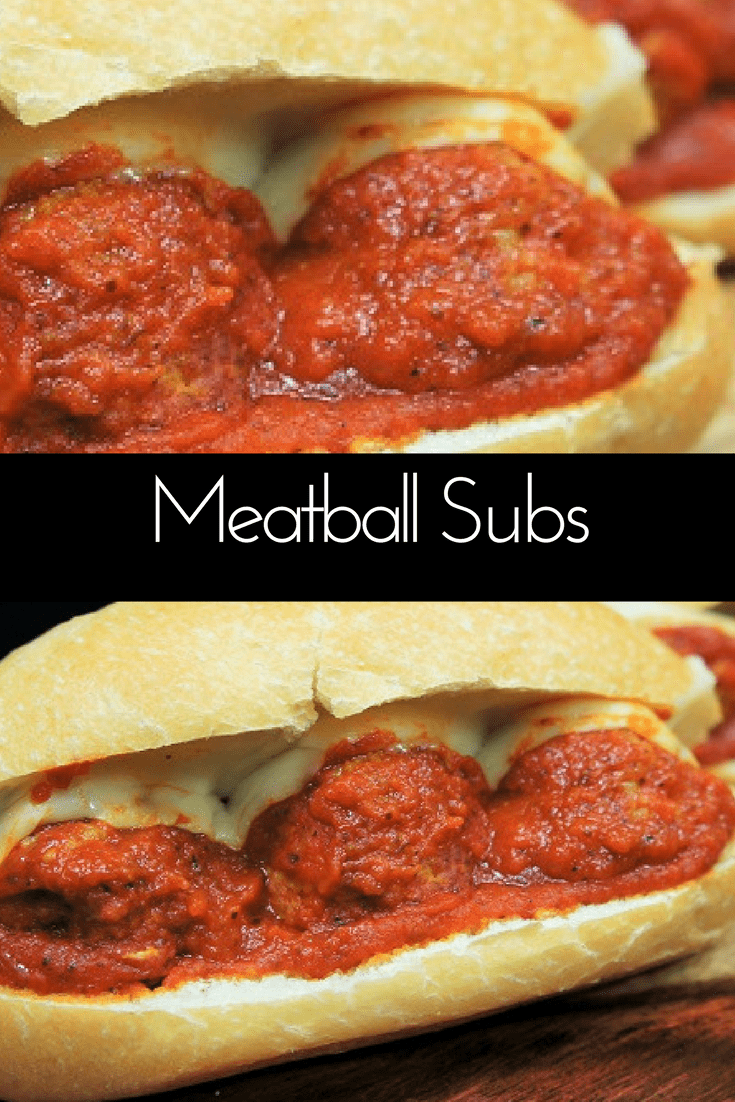 These Italian Sausage Meatball Subs make perfect weekend fare. Since the Italian sausage is seasoned already, you only need a handful of ingredients to make these delicious sandwiches. #Italiansausagemeatballs #meatballs #Italiansausage #subs #gamedayrecipes #sandwiches