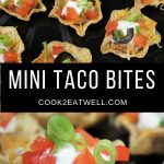 Mini Taco Bites served on a black tray.