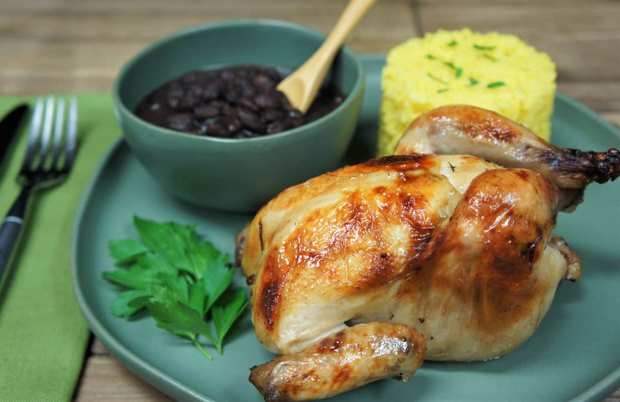 Mojo Marinated Cornish Hens