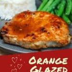 Orange glazed pork chop Pin image