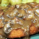 Pork Schnitzel and Mushroom Gravy