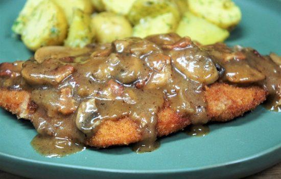Pork Schnitzel & Mushroom Gravy