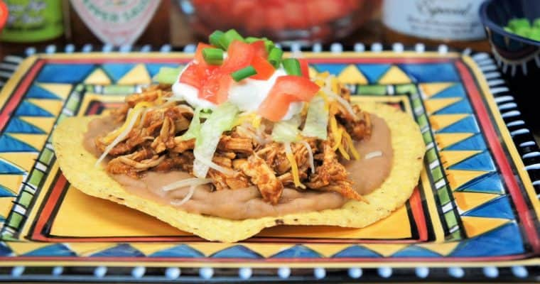 Shredded Chicken Tostadas