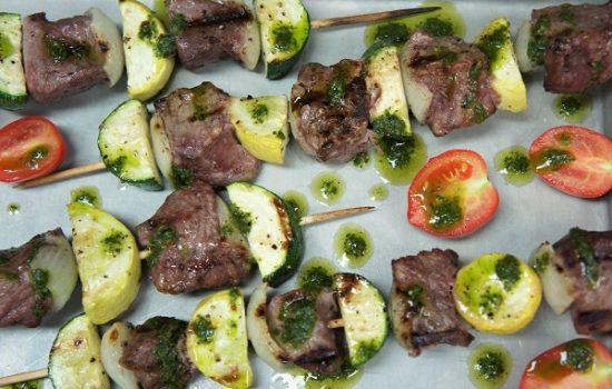 Steak & Vegetable Skewers