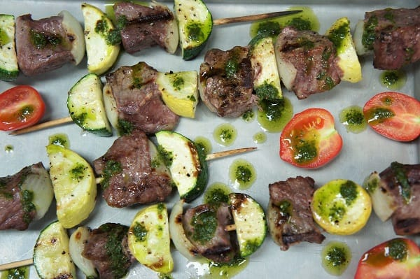 Steak & Vegetable Skewers