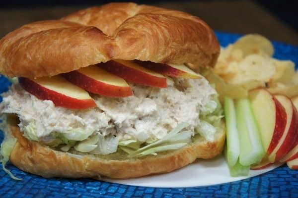 Tuna Salad & Apple Croissant Sandwich