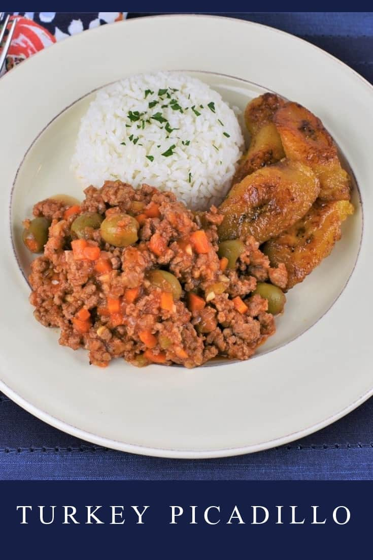 Traditionally, picadillo is made with ground beef, but this turkey picadillo recipe is just as delicious. Don't roll your eyes, and don't worry, all the flavor is still there. A combination of vegetables and spices make sure of that. #turkeypicadillo #picadillo #groundturkey #Cubanfood