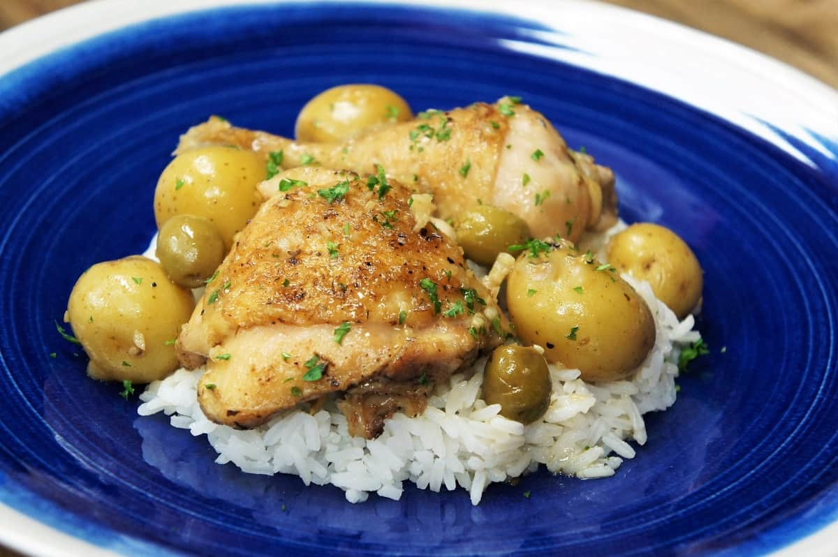 White Chicken Fricassee