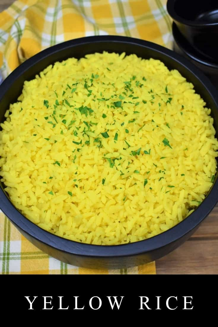 Making yellow rice at home is just as simple as making white rice. This yellow rice gets its beautiful color from good-for-you turmeric instead of from artificial coloring like in many prepackaged yellow rice mixes. It's really easy to make and super versatile. #yellowrice #sidedishes