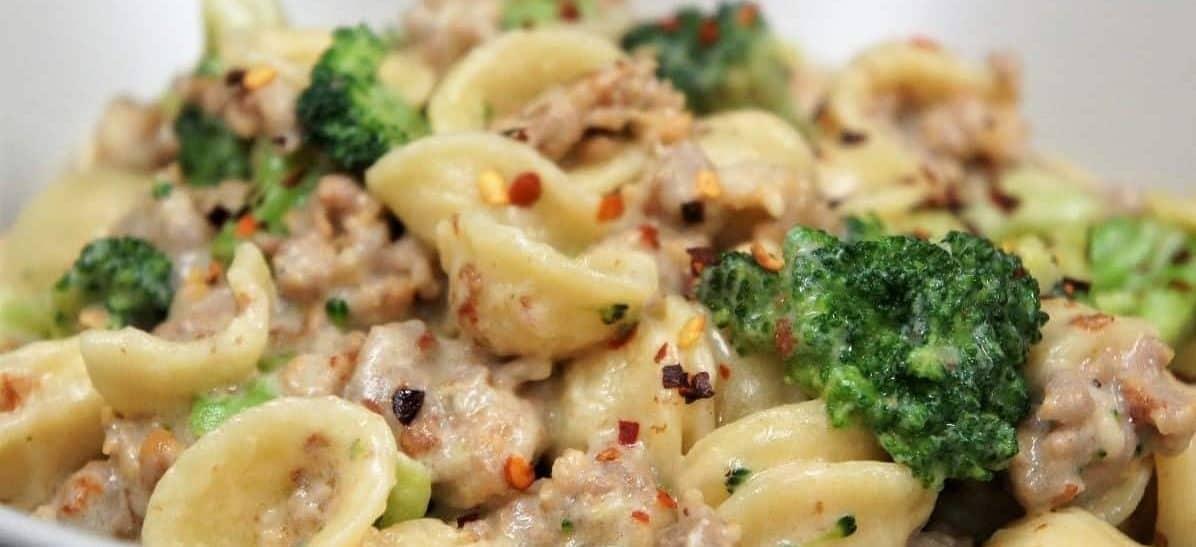 Orecchiette Pasta Creamy Italian Sausage