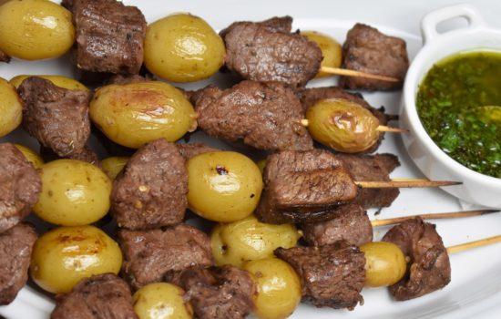 Beef & Potato Skewers