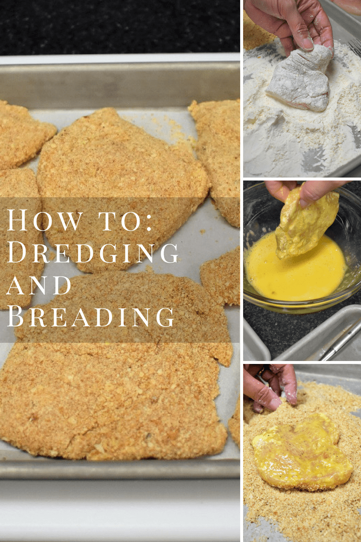 Learning a basic dredging and breading technique will open up a whole array of recipes for you. It's really not difficult, the hardest part is trying not to make a mess! #dredgingandbreading #dredging #breading #howtobread #howtodredge