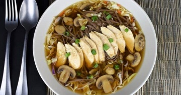 Soba Noodle Chicken Soup