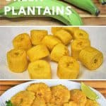 Tostones fried green plantains