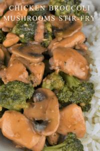 Chicken Broccoli Mushrooms Stir Fry