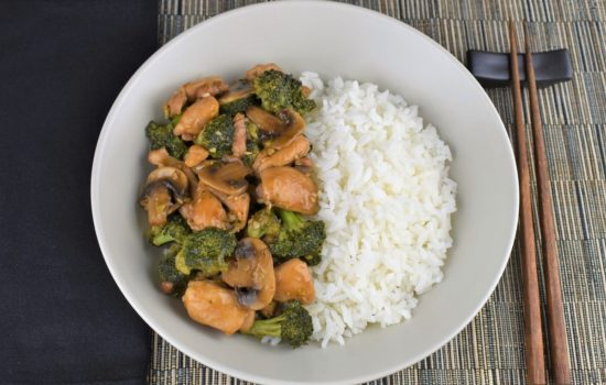 Chicken Broccoli Mushrooms Stir Fry