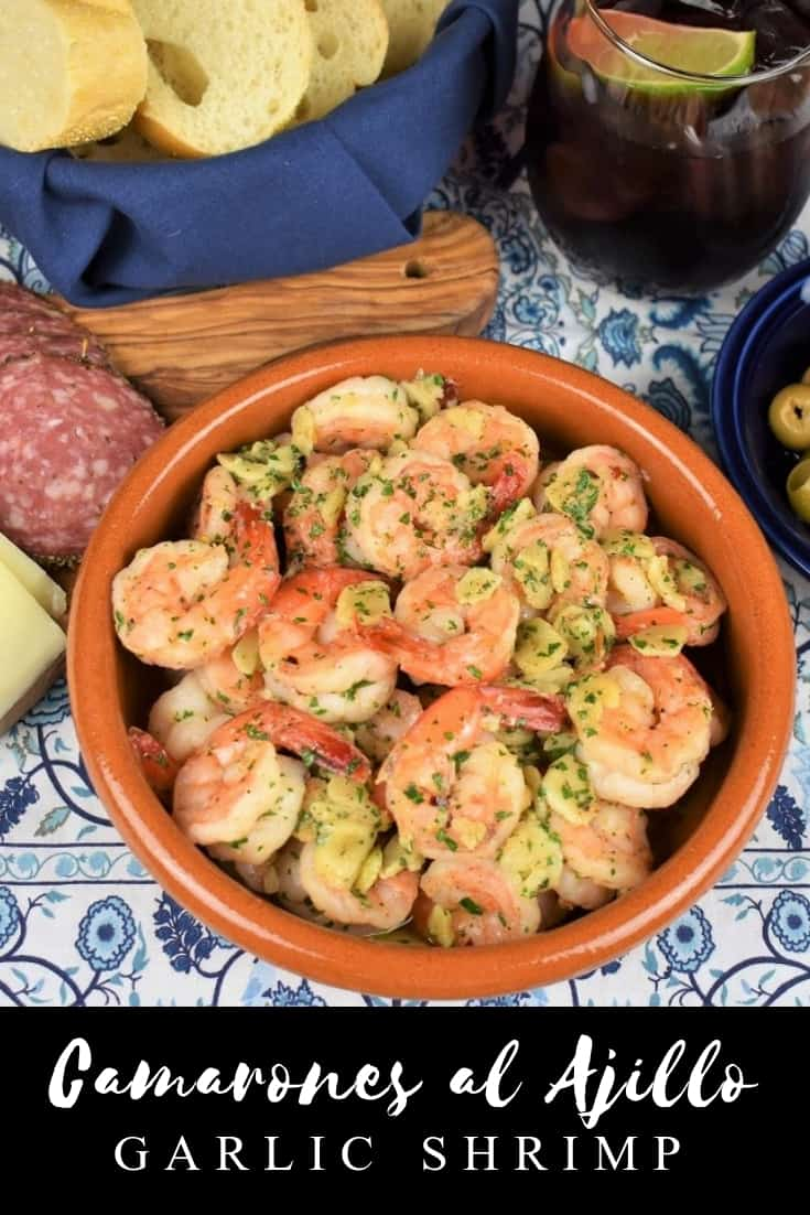 Camarones al Ajillo or Garlic Shrimp is just that, shrimp and a generous amount of garlic. Don't worry, about all that garlic though, it's gently sautéed in olive oil so it loses a lot of its kick. The rest of the ingredients are simple, spices, parsley and lemon, that's it. #camaronesalajillo #garlicshrimp
