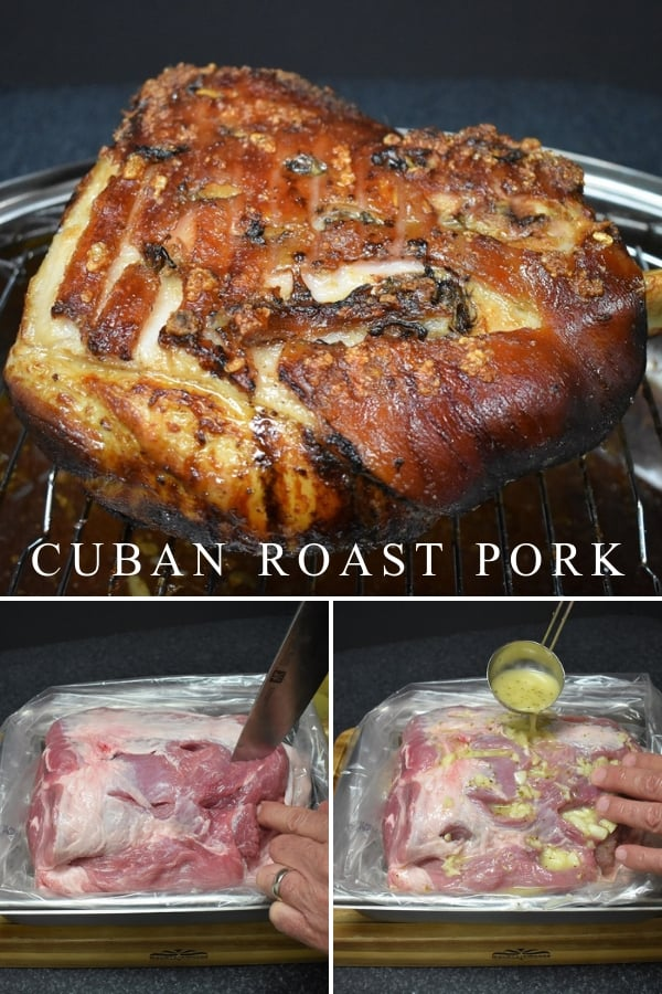 In Cuban Culture, roast pork (lechon asado) is the meal served on all special occasions. Christmas, Weddings, New Year's… roast pork is on the menu. This is a traditional recipe using a homemade mojo marinade. Roast pork is a two-day event. The pork needs to marinate in the refrigerator overnight. Then you roast it, low and slow for hours. #Cubanroastpork #roastpork #pork #holidays #Christmas #Cubanrecipes #Cubanfood