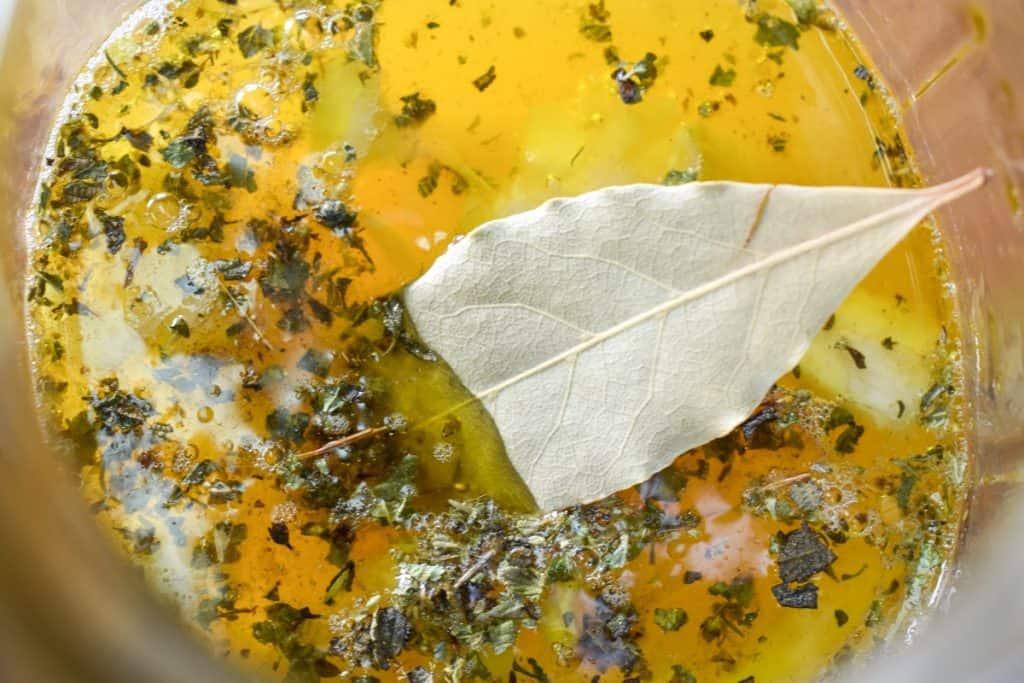 A close up image of mojo marinade.