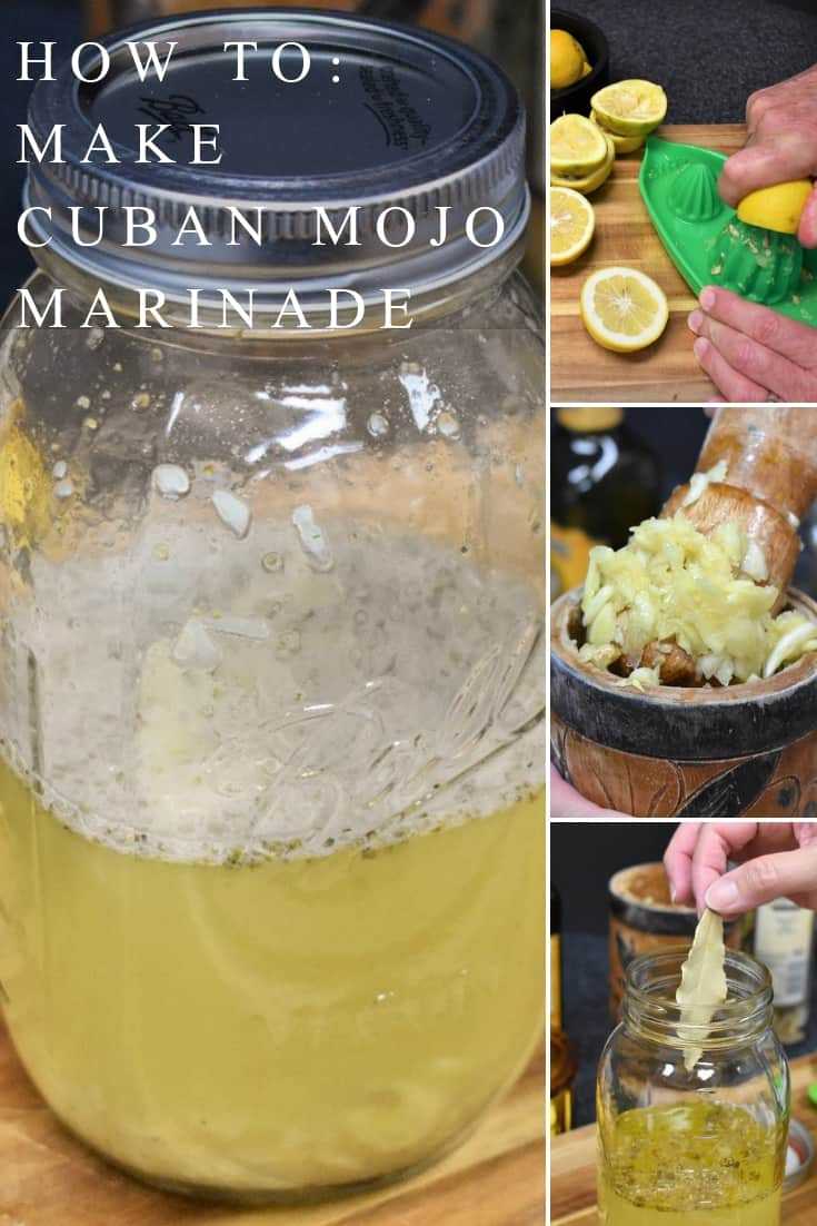 Mojo is a popular marinade and sauce in Cuban cuisine. A mojo marinade is a simple combination of garlic, spices and citrus juice. It injects wonderful flavor to meat. Mojo is used most commonly to flavor pork, but it works great on chicken and root vegetables, like yuca and malanga. #mojomarinade #mojo #Cubanfood #porkmarinade #pork #howtomakemojo #howtomakecubanmojo
