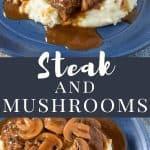 Steak and mushrooms PIN