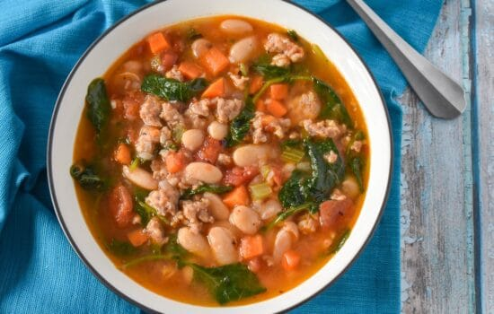 Sausage White Bean and Kale Soup