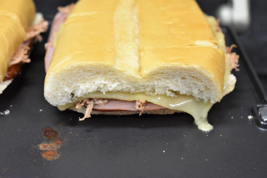 Cuban Sandwich on a sandwich press