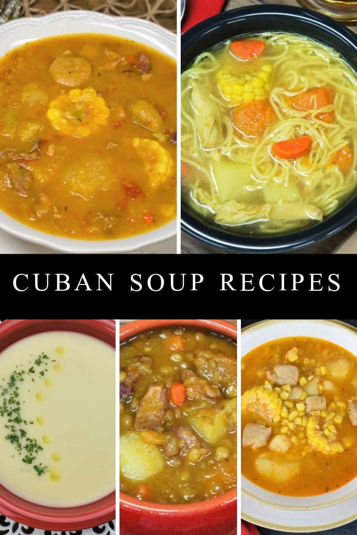 Here we've put together a collection of our favorite Cuban soup recipes. Each is different, with varied ingredients and delicious in its own way. Soups are a prominent part of Cuban cuisine. Bean soups are commonly served as a side dish with white rice. Cream soups and broths are served as starters. And some soups are so hearty and loaded with ingredients, that they are the meal. #Cubansoups #Cubansoupcollection