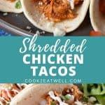 Shredded Chicken Tacos Pin