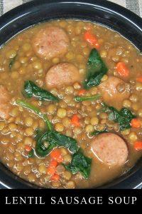 Lentil Sausage Soup