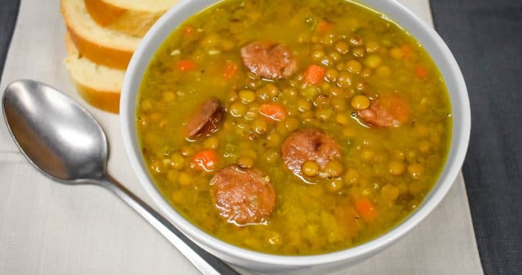 Lentil and Andouille Sausage Soup