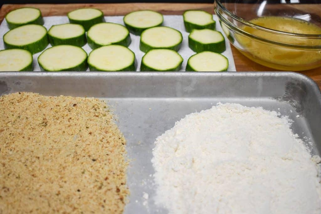Fried Zucchini Breading Station Image
