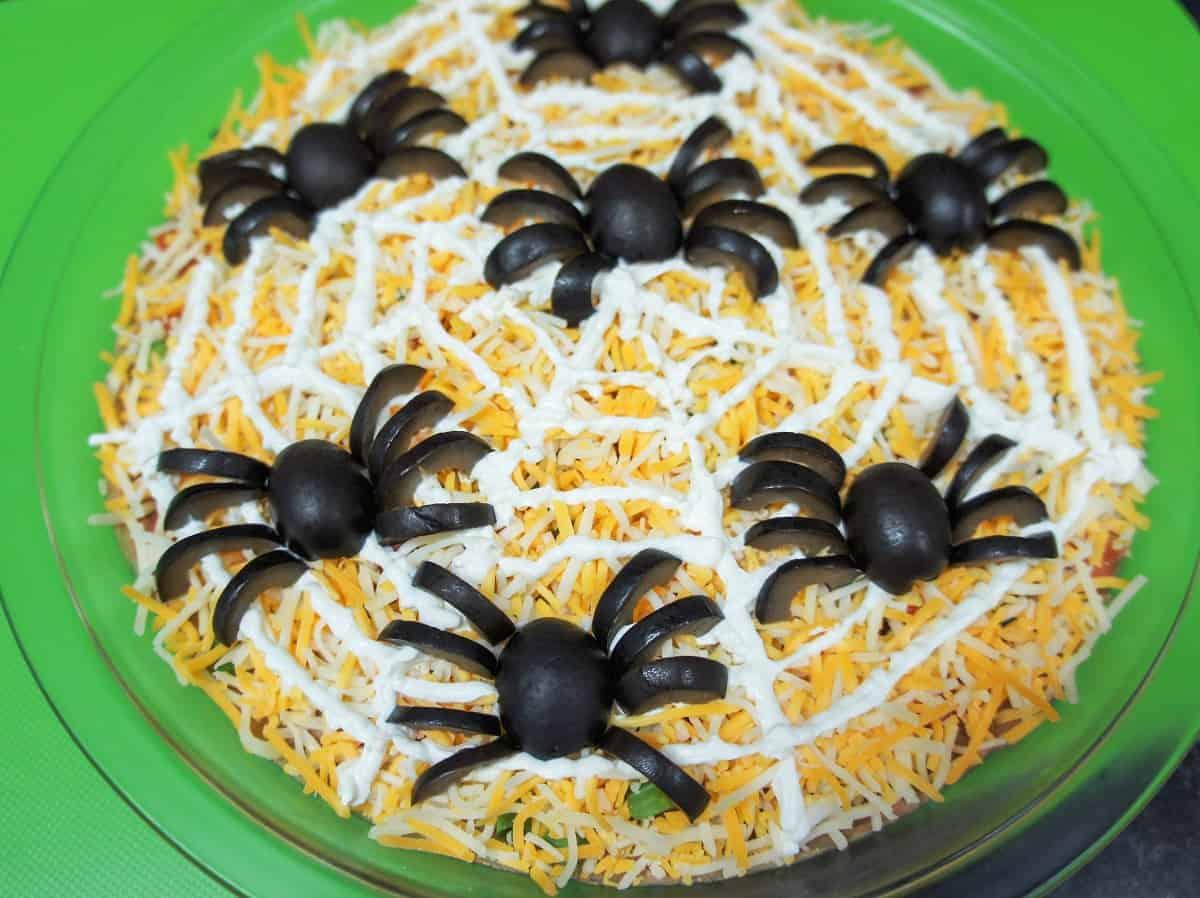 Halloween Spider Bean Dip