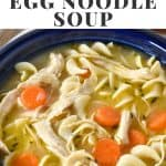 Chicken Egg Noodle Soup Pin