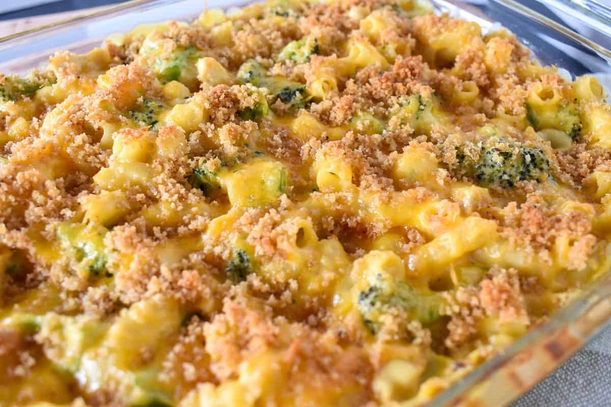 An image of the baked casserole before serving.