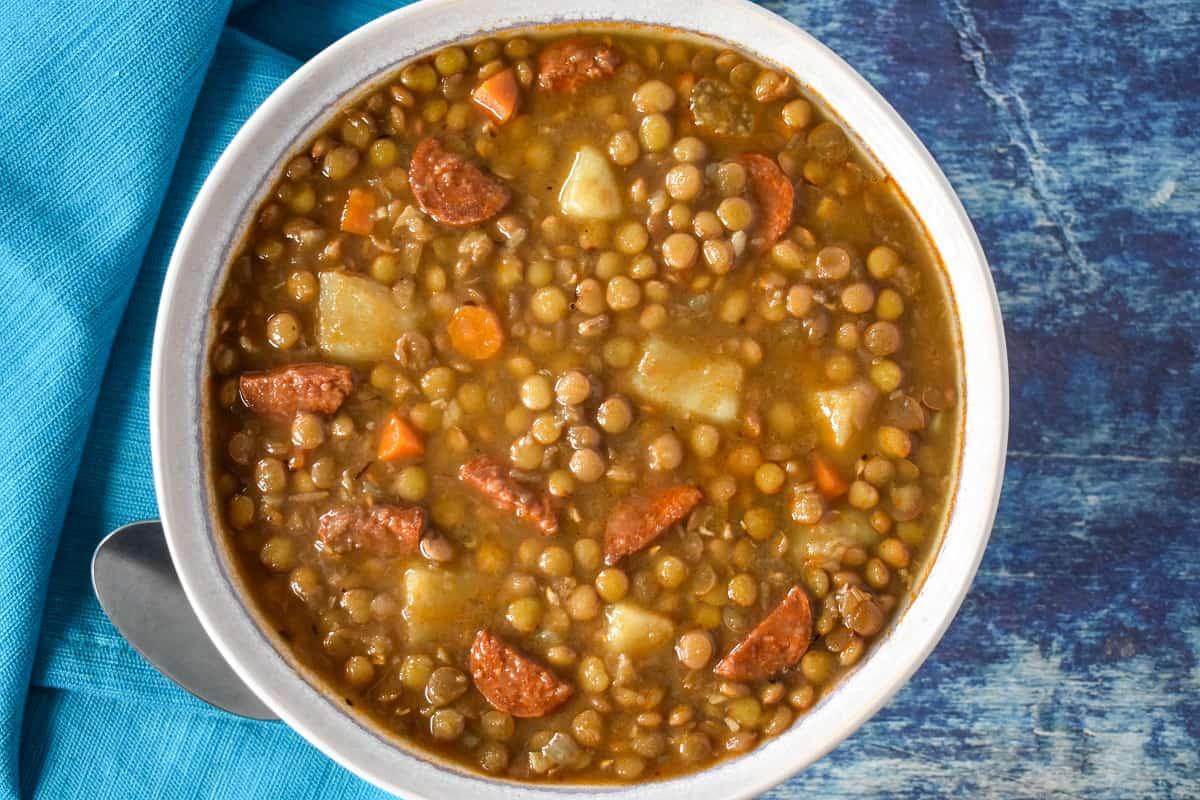 Lentil Chorizo Soup