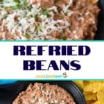 Refried beans pin image