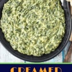 Creamed spinach pin
